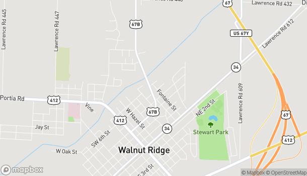 Mapa de 610 N Highway 67B en Walnut Ridge