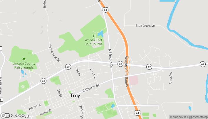 Mapa de 193 Missouri Hwy 47 en Troy
