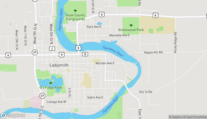 Map of 812 West Miner Ave in Ladysmith