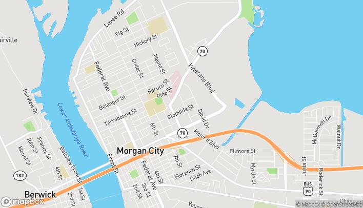Mapa de 1125 N Victor Ii Blvd en Morgan City