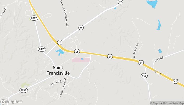 Mapa de 5737 Live Oak Centre Dr en St Francisville