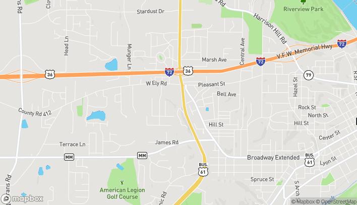 Mapa de 353 Hwy 61 N en Hannibal