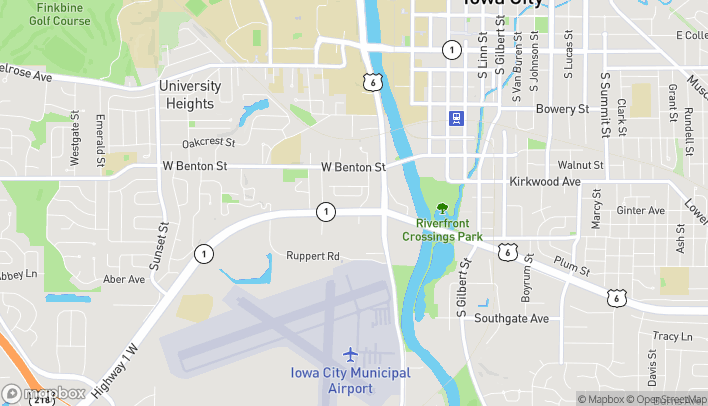 Map of 352 Highway 1 W in Iowa City