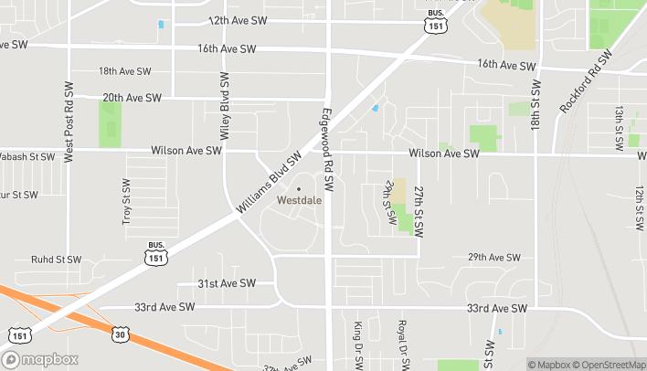 Mapa de 2360 Edgewood Rd en Cedar Rapids