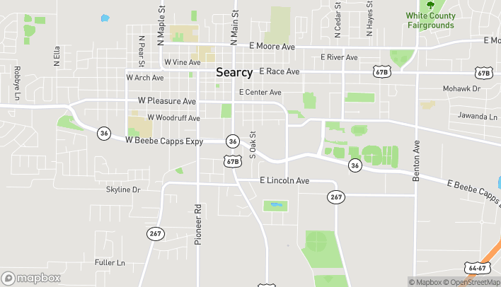 Map of 306 E Beebe Capps Expressway in Searcy