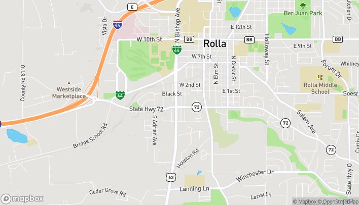 Mapa de 119 South Bishop en Rolla