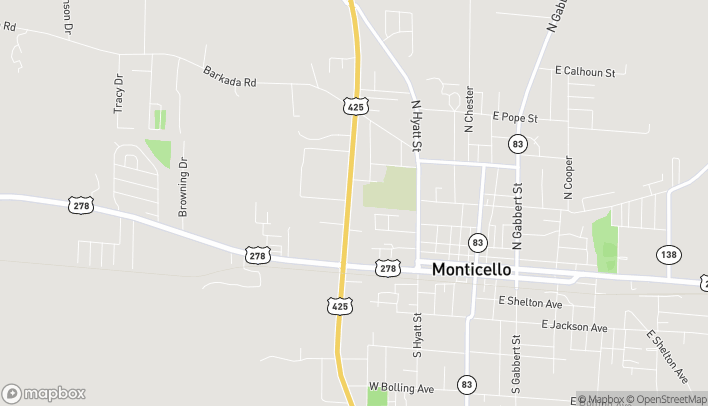 Map of 344 Highway 425 North in Monticello