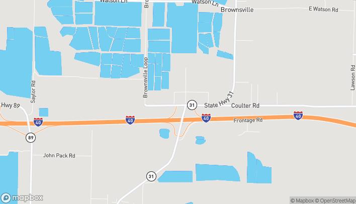 Map of 45 Fannie Lane in Lonoke