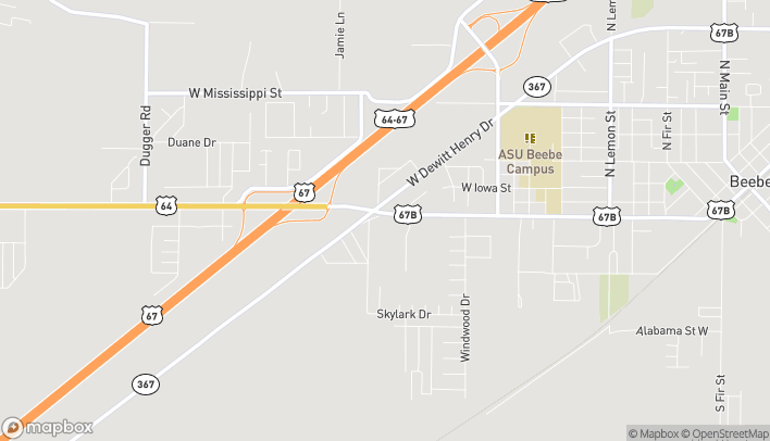 Map of 2063 West Center in Beebe