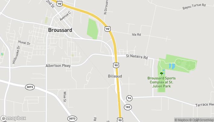 Mapa de 1212 Albertson Pkwy en Broussard