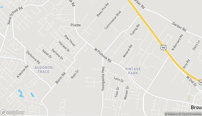Map of 3564 W. Pinhook Road in Lafayette