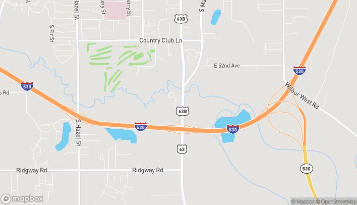 Mapa de 5500 S Olive St en Pine Bluff