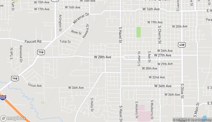 Mapa de 2528 W 28th St en Pine Bluff