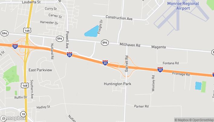 Mapa de 4757 Pecanland Mall Drive en Monroe