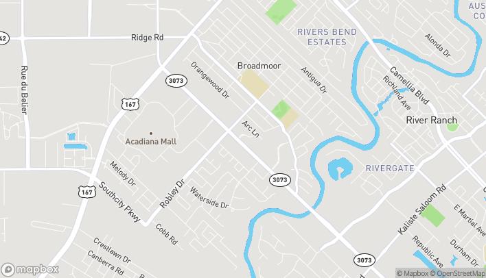 Map of 3807 Ambassador Caffery Pkwy in Lafayette