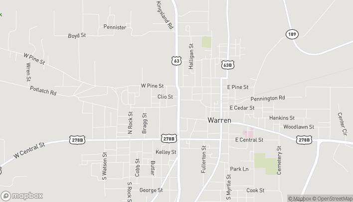 Mapa de 205 B. North Martin en Warren