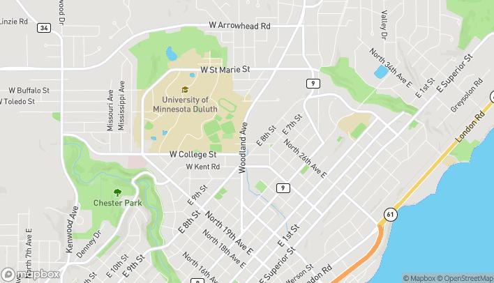 Mapa de 910 Woodland Ave en Duluth