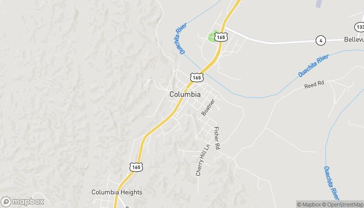 Mapa de 6997 US-165 S en Columbia