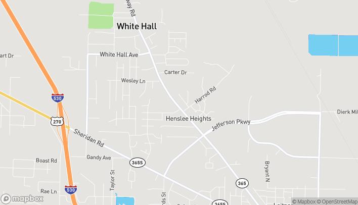 Mapa de 7401 Dollarway Rd en White Hall