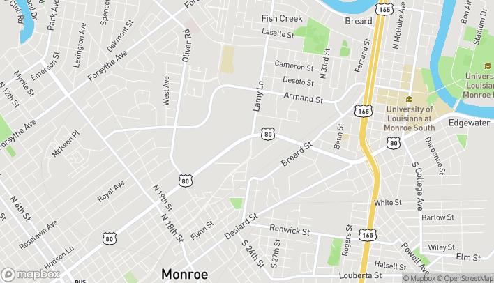 Map of 2770 Louisville Ave in Monroe