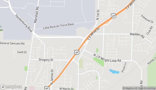 Map of 2070 John Harden Drive in Jacksonville