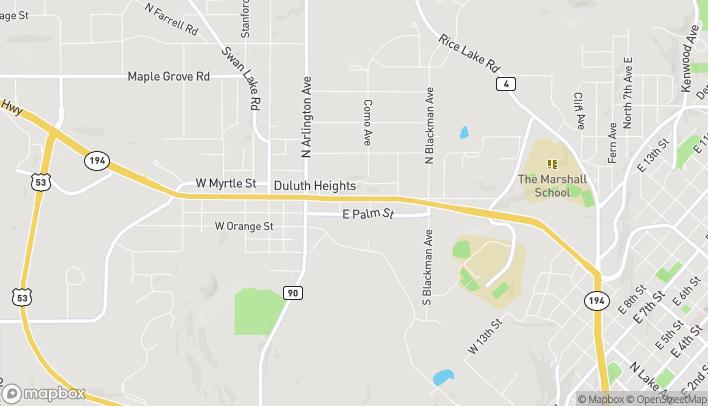 Mapa de 224 East Central Entrance en Duluth