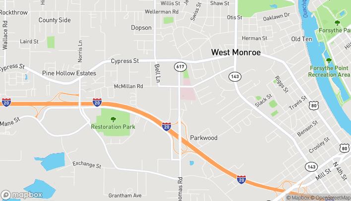 Mapa de 208 Thomas Road en West Monroe
