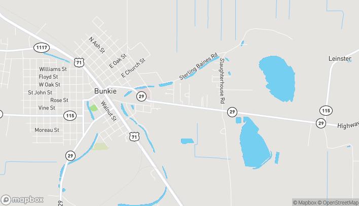 Mapa de 625 Evergreen St en Bunkie