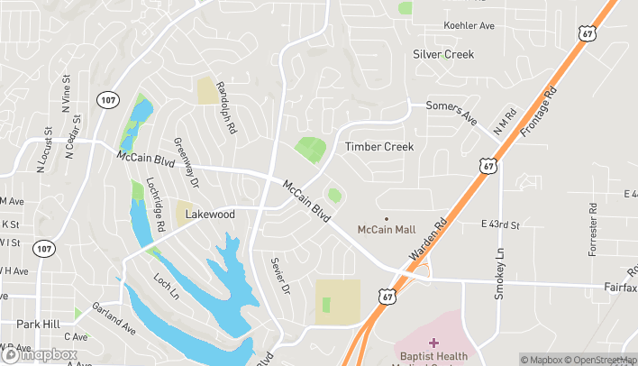 Map of 2617 Lakewood Village Dr in North Little Rock