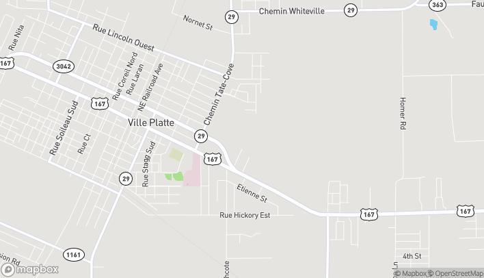 Mapa de 915 E Lasalle St en Ville Platte