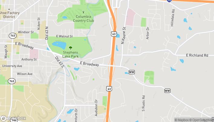 Mapa de 2910 Trimble Rd en Columbia