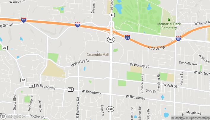 Mapa de 2109 W Worley St en Columbia