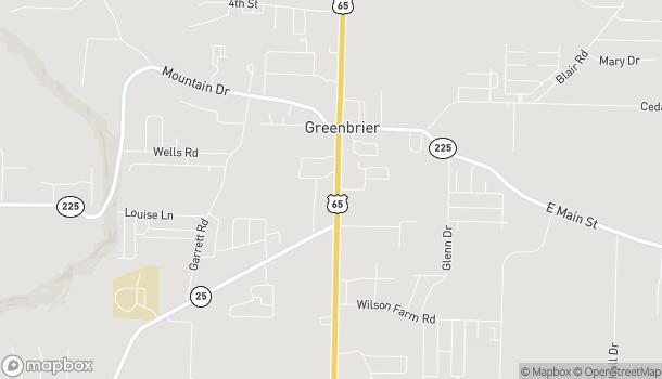 Mapa de 47 South Broadview Street en Greenbrier
