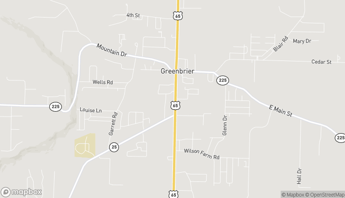 Map of 47 South Broadview Street in Greenbrier
