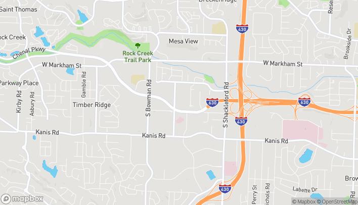 Map of 11520 Financial Center Pkwy in Little Rock