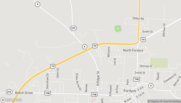 Map of 1230 Edgar St in Fordyce