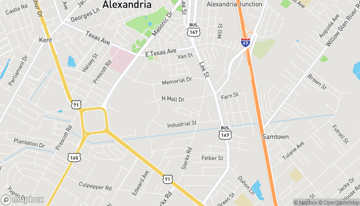Map of 2041 North Mall Drive in Alexandria