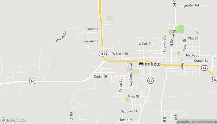 Mapa de 913 West Court St en Winnfield