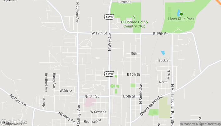 Map of 1801 N West Ave in El Dorado