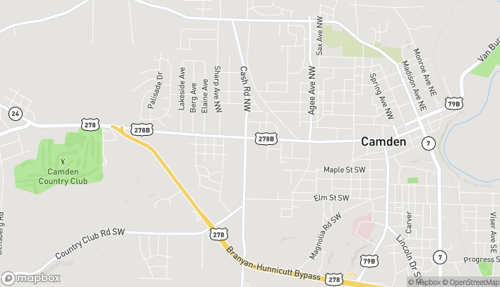 Map of 941 California Ave SW in Camden