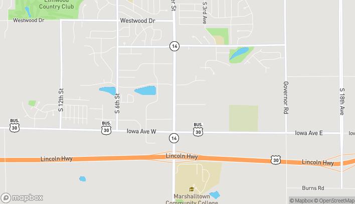 Mapa de 10 La Frentz Lane en Marshalltown