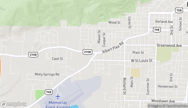 Map of 100 Airport Rd in Hot Springs
