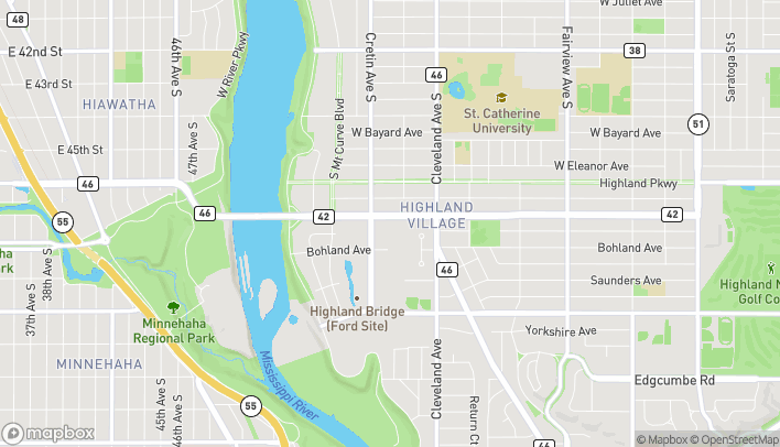 Map of 2132 Ford Pkwy in St. Paul