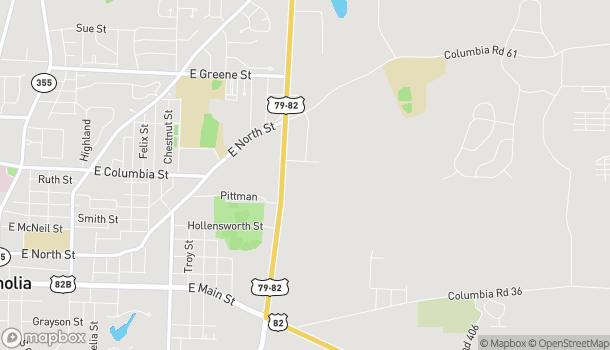 Mapa de 50 Highway 79 en Magnolia