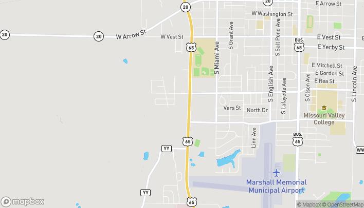 Mapa de 1251 S Cherokee Dr en Marshall
