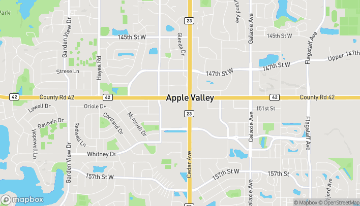 Map of 7634 150th St W in Apple Valley