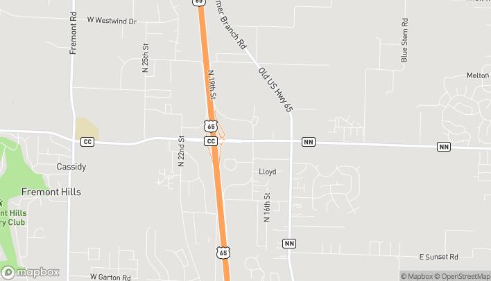Mapa de 1753 W State Highway J en Ozark