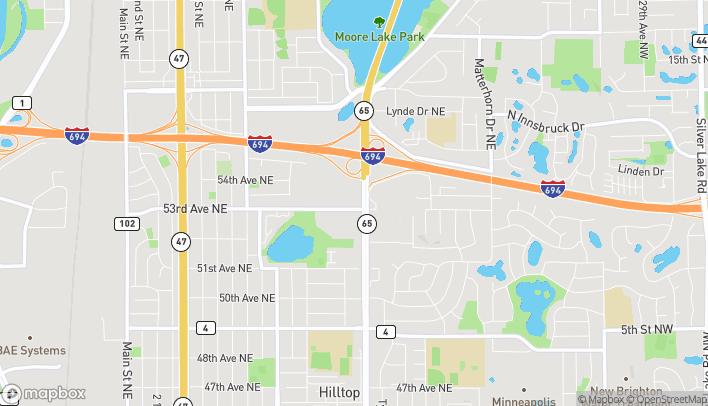Mapa de 5300 Central Ave NE en Fridley