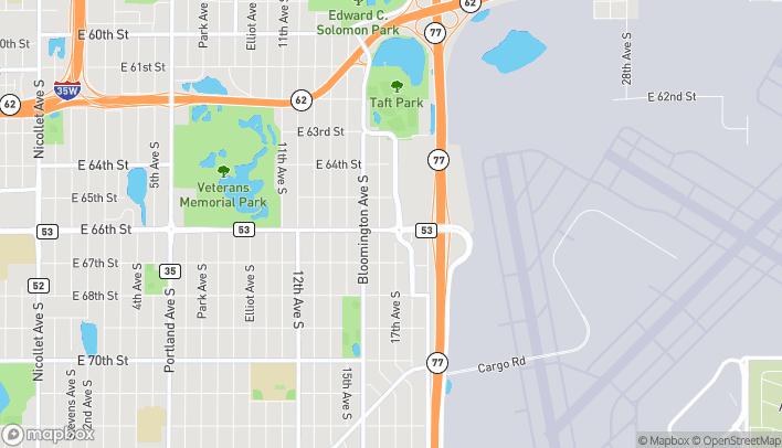 Map of 1630 East 66th Street in Richfield