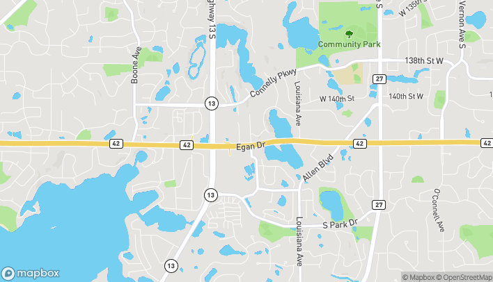 Map of 7450 Egan Drive in Savage